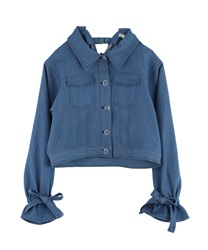Back design denim jacket(Wash-Free)