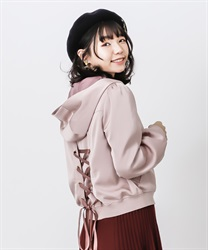 Back lace-up blouson(DarkPink-Free)