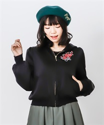Back lace-up blouson(Black-Free)