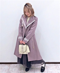 Asymmetric Design Trench Coat(Purple-Free)