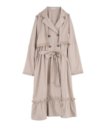 Double button trench style raincoat(Beige-Free)