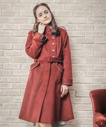 Military style coat(Wine-Free)