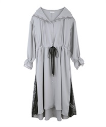Long coat with hood(Grey-Free)
