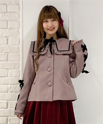 Black ribbon short coat