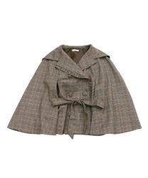 Hoodie cape short coat(Brown-Free)