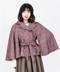 【Global Price】Hoodie cape short coat