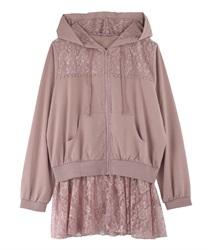 【2Buy10%OFF】【axes femme yoga】Quick Dry Jersey Long Hoodie(Pale pink-Free)