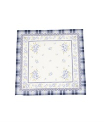 【2Buy20%OFF】Checkered Rose-Printed Handkerchief(Navy-M)