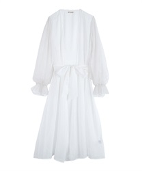 Long Gown with Volume Sleeves(White-Free)