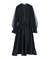 Long Gown with Volume Sleeves(Black-Free)