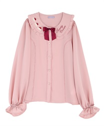 Sweets embroidery blouse(Pale pink-Free)