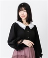 【2Buy10%OFF】Lace collar blouse(Black-Free)