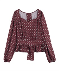 【2Buy10%OFF】Vintage Patterned Blouse
