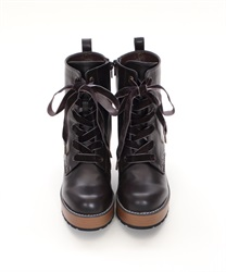 【Global Price】Lace-up boot(Brown-S)