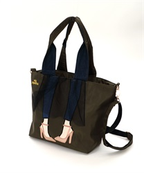 Lady with Tulle skirt Design Tote Bag 【Only at ONLINE SHOP】(Khaki-M)