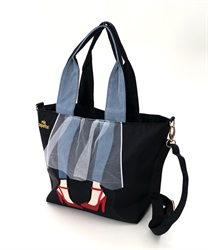 Lady with Tulle skirt Design Tote Bag 【Only at ONLINE SHOP】(Black-M)