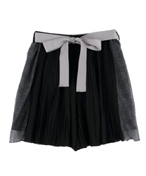 Pleated Shorts with Side Lace