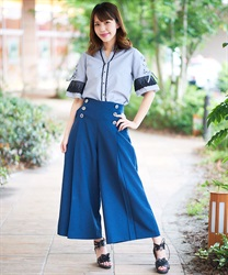 Wide pants_TY242X04(Navy-Free)