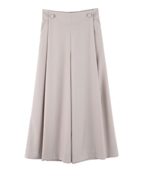 Button design wide pants(Beige-Free)