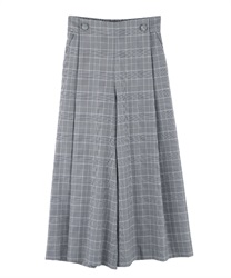 Button design wide pants(Grey-Free)