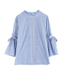 Blouse with soft sleeves