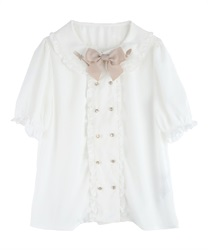 Cutlery blouse(White-Free)