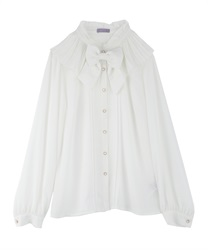 Pleated Collar Blouse(White-Free)