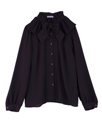 Pleated Collar Blouse(Purple-Free)