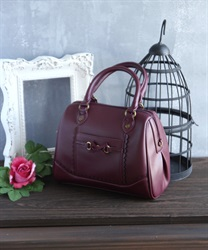 Ribbon bit bag(Wine-M)