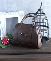 Ribbon bit bag(Brown-M)