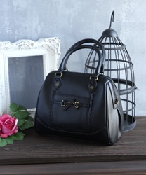 Ribbon bit bag(Black-M)
