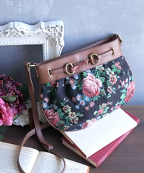 Jacquard shoulder bag