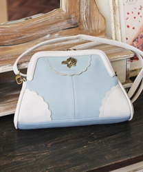 Purse shoulder bag(Saxe blue-M)