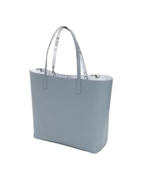 Reversible Flower Tote Bag(Saxe blue-M)