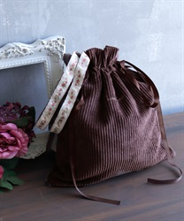 Corduroy tote bag(Brown-M)