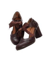 T-strap pumps(Brown-S)