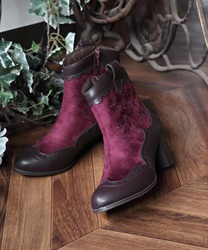 【Global Price】Western boot(Wine-M)