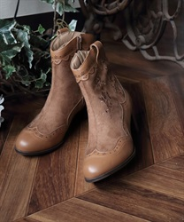 【Global Price】Western boot(Beige-M)