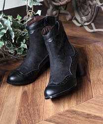【Global Price】Western boot(Black-M)