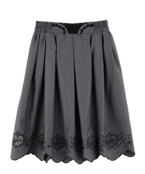 Skirt with heart-shaped openwork embroidery(Chachol-Free)