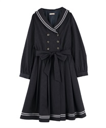 Sailor gown dress(Grey-Free)