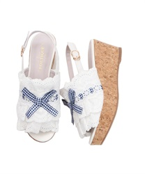Cotton Lace Sandals(White-S)