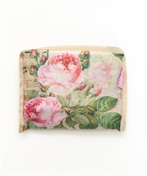 Rain bag with roses and musical notes(Beige-M)