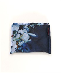 White Flower Rain Bag(Navy-M)