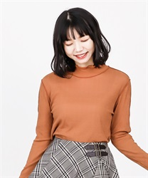 【2Buy10%OFF】Sheer cut pullover(Orange-Free)