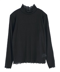 Sheer cut pullover(Black-Free)