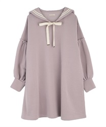Sailor cut one-piece(Lavender-Free)