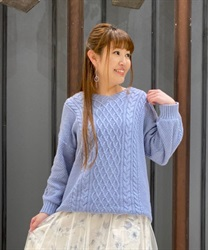 Lace-up knit tunic